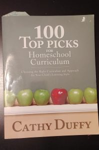 "My well-loved copy of ""100 Top Picks for Homeschool Curriculum"" by Cathy Duffy"