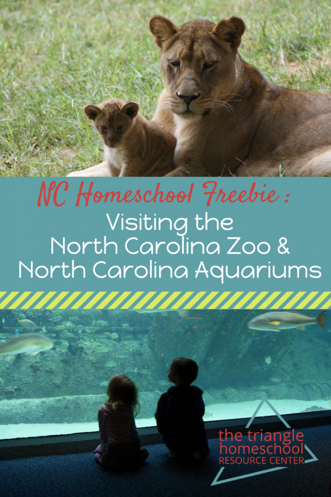 How NC Homeschoolers can visit the Zoo and Aquariums for free!