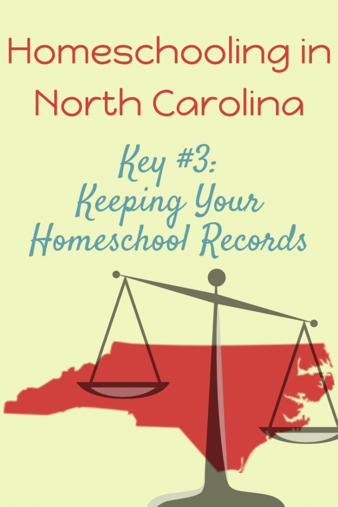 Keeping homeschool records in NC