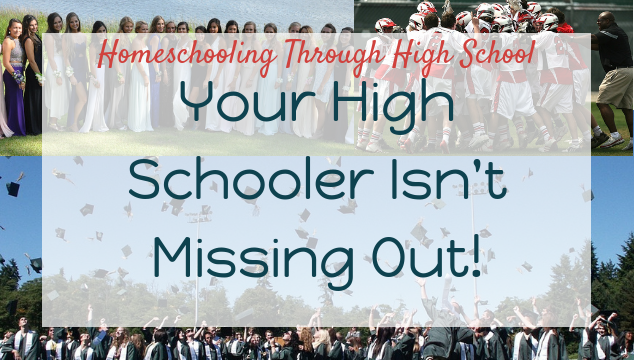 Homeschooling through high school doesn't mean having to miss out on the milestones of the teenage years!