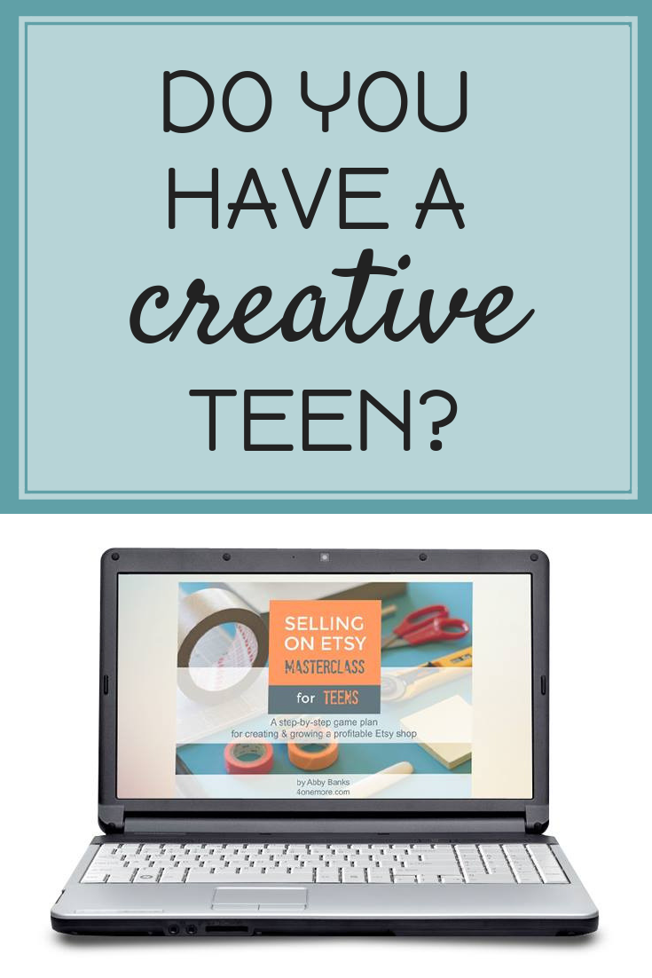 Seilling on Etsy Masterclass for Teens
