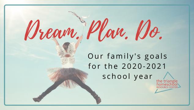 Homeschool goals for 2020-2021